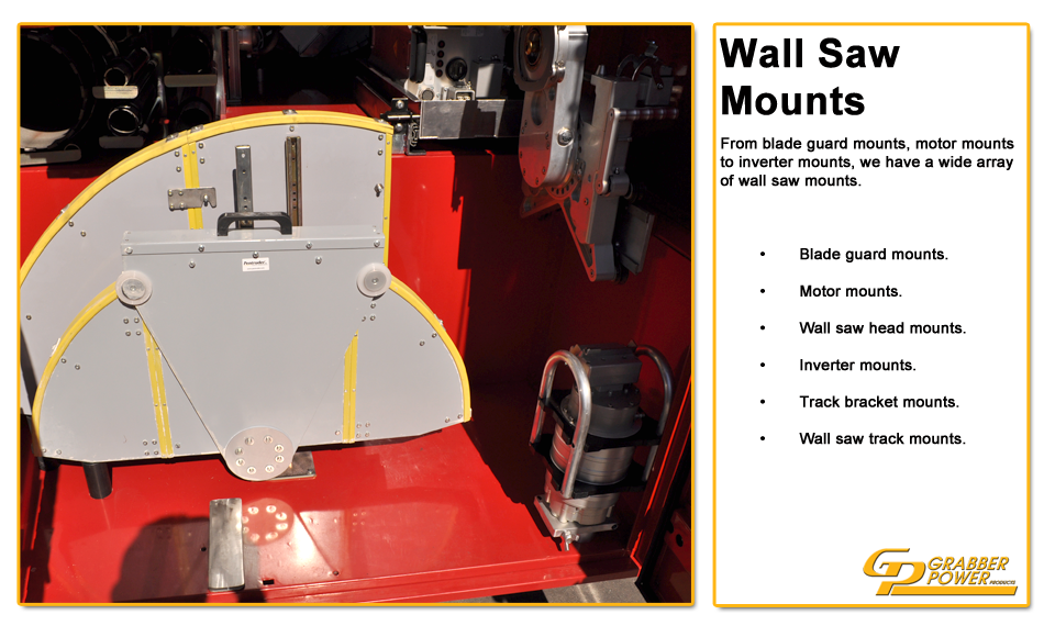 The Cross Cut Saw On A Wall Mount : Grabber power products concrete cutting equipment